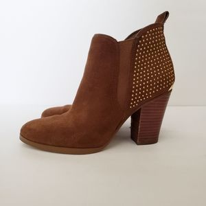 💜Michael Kors Brown Leather Suede Ankle Boots